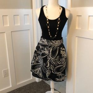 Modest black and white skirt down-east outfitters